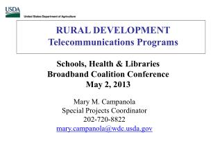 RURAL  DEVELOPMENT Telecommunications Programs