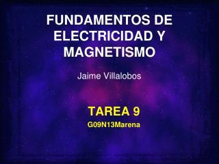 FUNDAMENTOS DE ELECTRICIDAD Y MAGNETISMO Jaime Villalobos