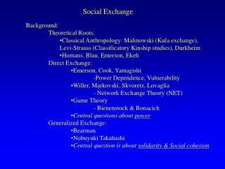 Social Exchange