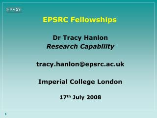 EPSRC Fellowships