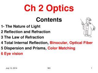 Ch 2 Optics
