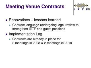 Meeting Venue Contracts