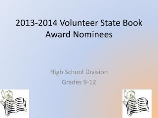 2013-2014 Volunteer State Book Award Nominees
