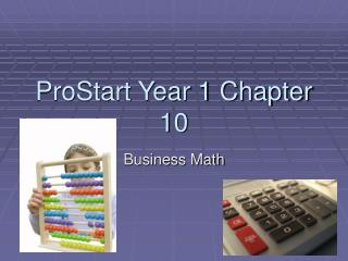 ProStart Year 1 Chapter 10
