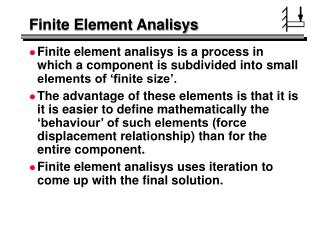 Finite Element Analisys