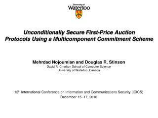 Unconditionally S ecure First-Price Auction Protocols Using a Multicomponent Commitment Scheme