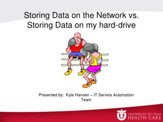 Storing Data on the Network vs. Storing Data on my hard-drive