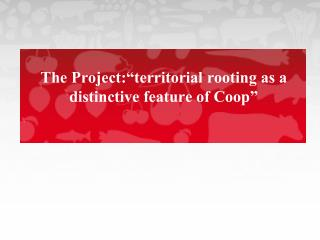 "The Project:""territorial rooting as a distinctive feature of Coop"""