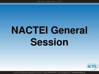 NACTEI General Session
