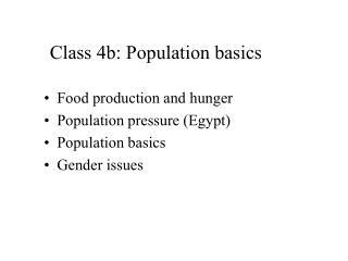 Class 4b: Population basics