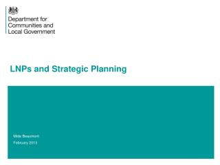 LNPs and Strategic Planning