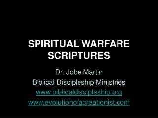 SPIRITUAL WARFARE SCRIPTURES
