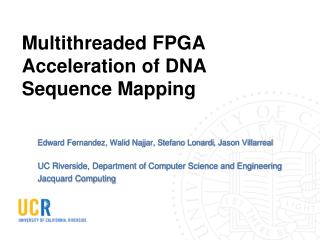 Multithreaded FPGA Acceleration of DNA Sequence Mapping