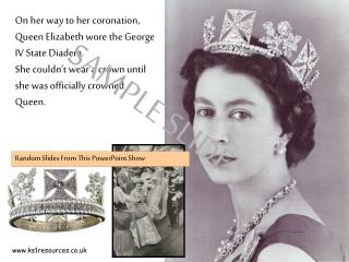 On her way to her coronation, Queen Elizabeth wore the George IV State Diadem.  She couldn't wear a crown until she was