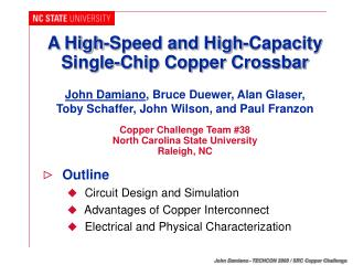 A High-Speed and High-Capacity Single-Chip Copper Crossbar