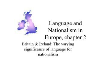 Language and Nationalism in Europe, chapter 2