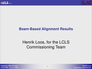 Beam-Based Alignment Results