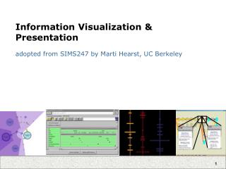 Information Visualization & Presentation adopted from SIMS247 by Marti Hearst, UC Berkeley