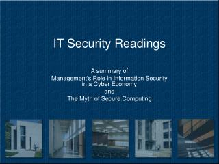 IT Security Readings