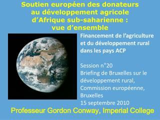 Soutien européen des donateurs  au développement agricole  d'Afrique sub-saharienne:  vue d'ensemble