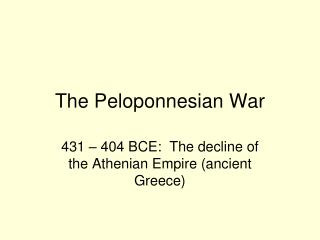 essay on the peloponnesian war