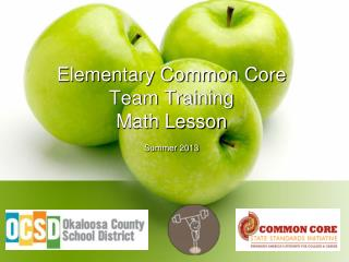 Elementary Common Core  Team Training Math Lesson Summer 2013