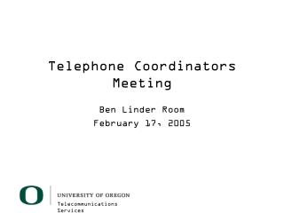 Telephone Coordinators Meeting