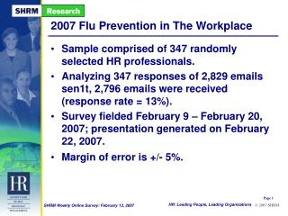 2007 Flu Prevention in The Workplace