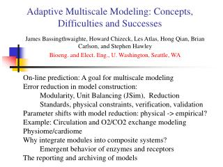 Adaptive Multiscale Modeling: Concepts, Difficulties and Successes