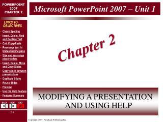 Microsoft PowerPoint 2007 – Unit 1