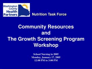 Nutrition Task Force