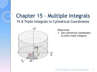 Chapter 15 � Multiple Integrals