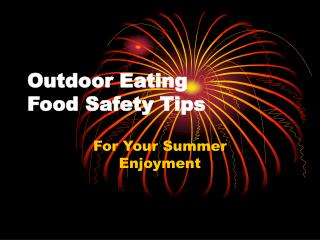 Outdoor Eating Food Safety Tips