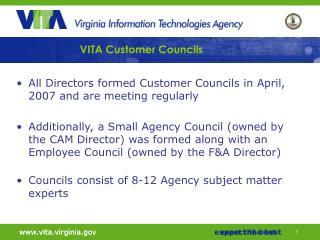 VITA Customer Councils