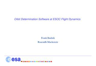 Orbit Determination Software at ESOC Flight Dynamics