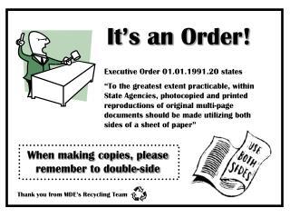 It's an Order!