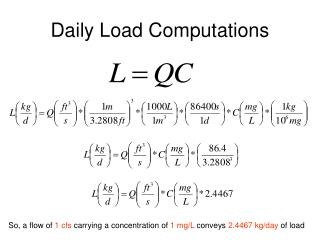 Daily Load Computations
