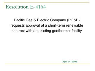 Resolution E-4164