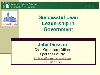 Successful Lean Leadership in Government