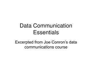 Data Communication Essentials