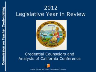 2012 Legislative Year in Review