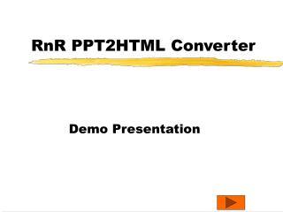 RnR PPT2HTML Converter