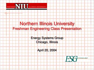Northern Illinois University Freshman Engineering Class Presentation