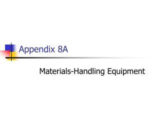 Appendix 8A