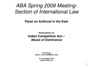 ABA Spring 2009 Meeting- Section of International Law