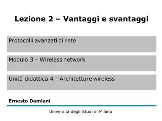 Vantaggi delle reti wireless (1)