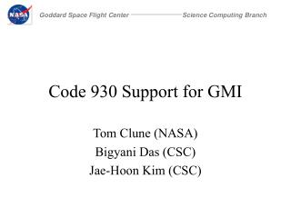 Code 930 Support for GMI