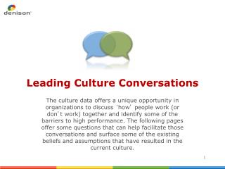 Leading Culture Conversations