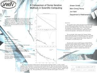 A Comparison of Some Iterative Methods in Scientific Computing