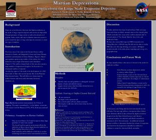 Background There are several theories that state that Martian sinkholes as the result of large evaporite deposits and e